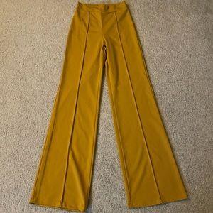 Fashion Nova Victoria Mustard High Waisted Pants